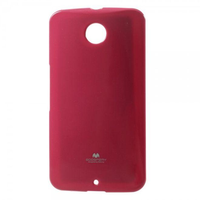 Goospery Goospery - Motorola Nexus 6 Handy Hülle - TPU Soft Case - Pearl Jelly Series - pink