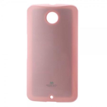 Mercury Goospery - Motorola Nexus 6 Handy Hülle - Case aus elastischem Plastik - Pearl Jelly Series - rosa