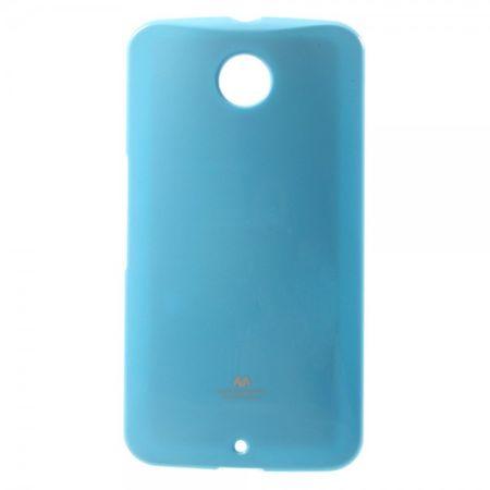 Goospery - Motorola Nexus 6 Handy Hülle - TPU Soft Case - Pearl Jelly Series - himmelblau