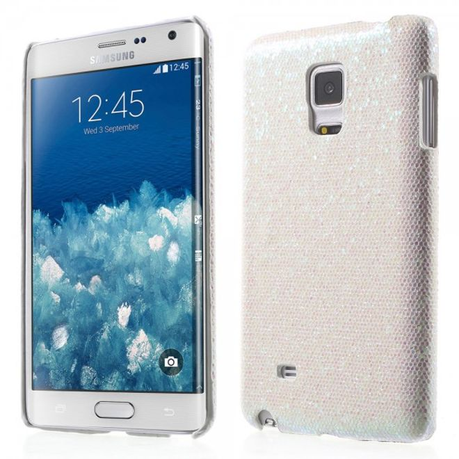 Samsung Galaxy Note Edge Glitzerndes Hart Plastik Case - weiss