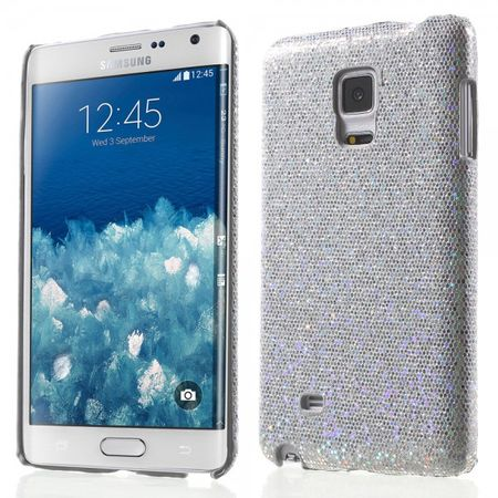 Samsung Galaxy Note Edge Glitzerndes Hart Plastik Case - silber