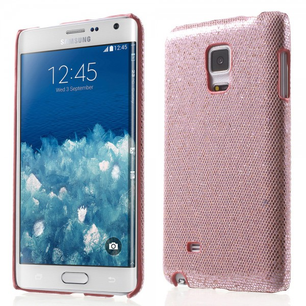 Samsung Galaxy Note Edge Glitzerndes Hart Plastik Case - pink