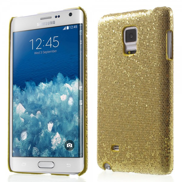 Samsung Galaxy Note Edge Glitzerndes Hart Plastik Case - golden