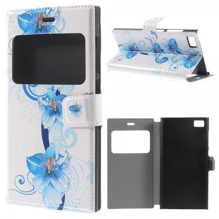 Xiaomi Mi3 Leder Case mit blauen Blumen