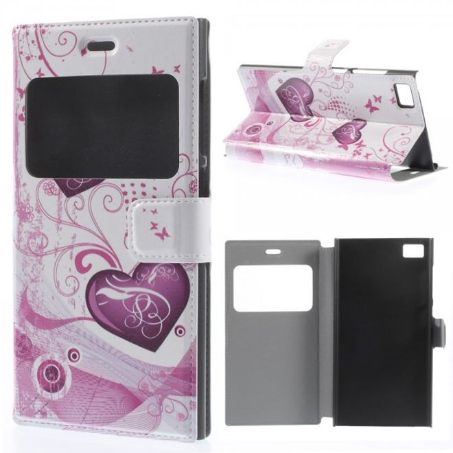 MU Style Xiaomi Mi3 Leder Case mit zwei Herzen