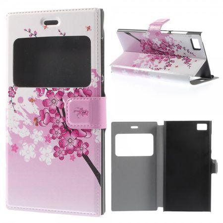 Xiaomi Mi3 Leder Case mit pinken Blumen