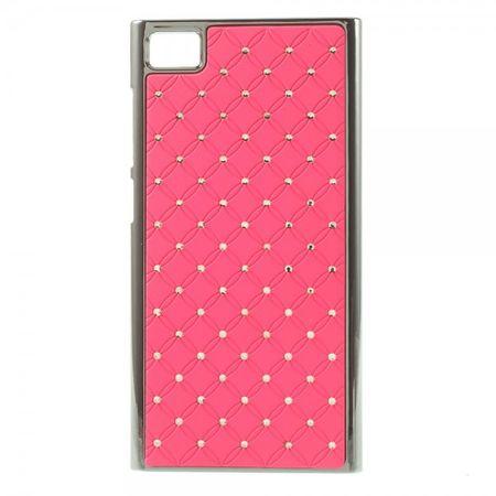 Xiaomi Mi3 Hart Plastik Case mit Glitzersteinen - pink