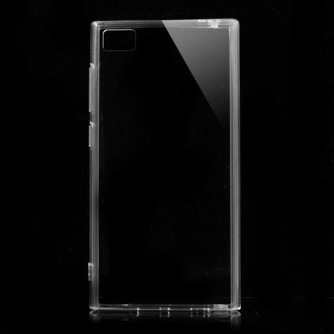 MU Classic Xiaomi Mi3 Elastisches Plastik Case mit Staubschutz - transparent