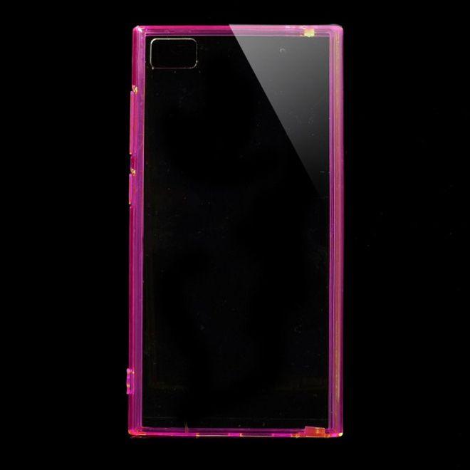 MU Classic Xiaomi Mi3 Elastisches Plastik Case mit Staubschutz - rosa