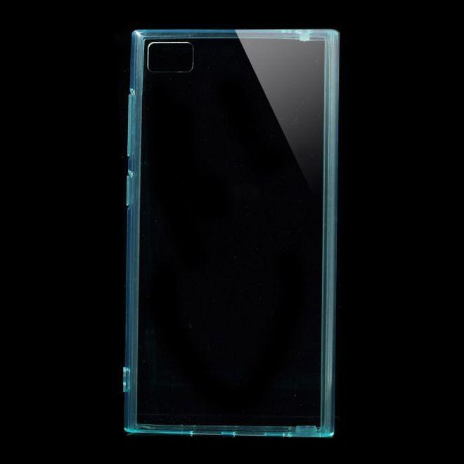 Xiaomi Mi3 Elastisches Plastik Case mit Staubschutz - cyan