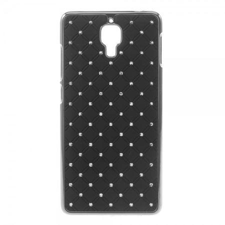 Xiaomi Mi4 Hart Plastik Case mit Glitzersteinen - schwarz
