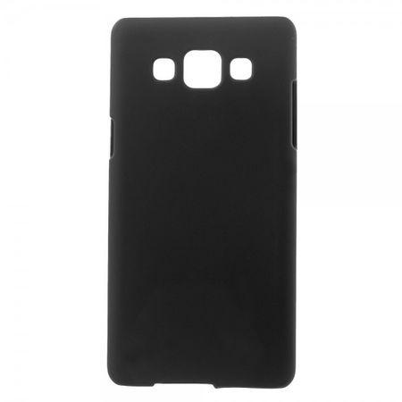 Samsung Galaxy A3 Gummiertes Hart Plastik Case - schwarz