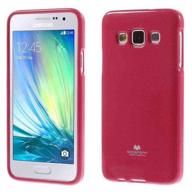 Goospery Goospery - Samsung Galaxy A3 (2015) Handy Hülle - TPU Soft Case - Pearl Jelly Series - pink