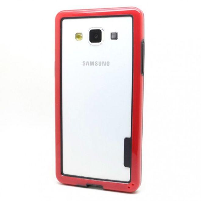Samsung Galaxy A5 Elastischer Plastik Bumper - rot