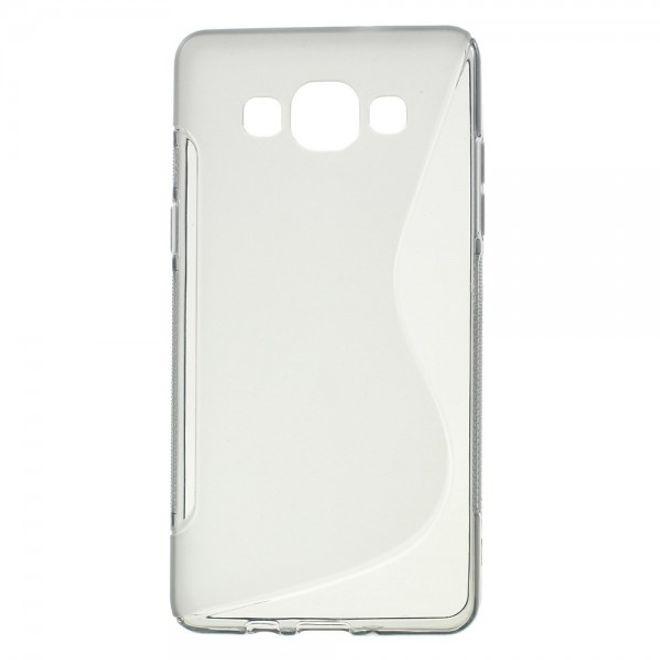 Samsung Galaxy A5 Elastisches Plastik Case S-Shape - grau