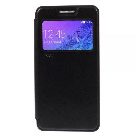 Samsung Galaxy A7 ROAR KOREA Leder Case mit kleiner Öffnung - schwarz