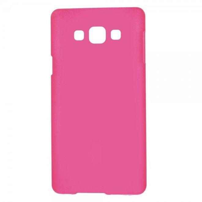 Samsung Galaxy A7 Gummiertes Hart Plastik Case - rosa
