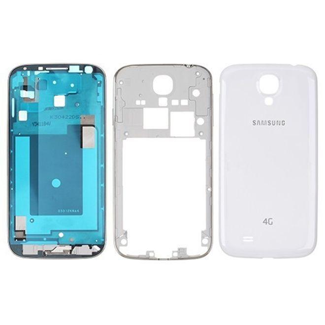 Samsung Galaxy S4 OEM Ersatz Mittelplatte inklusive Backcover - weiss