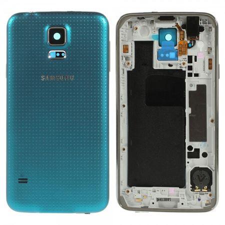Samsung Galaxy S5 OEM Ersatz Mittelplatte inklusive Backcover - blau