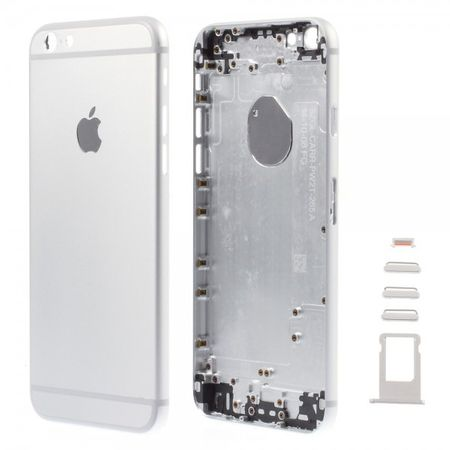 iPhone 6 Mattes Rückgehäuse Umbauteil mit weissen Rändern - silber