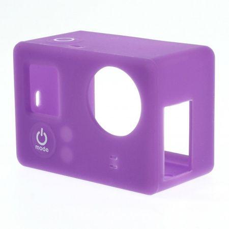 GoPro 3/3+ Elastisches Silikon Case - purpur