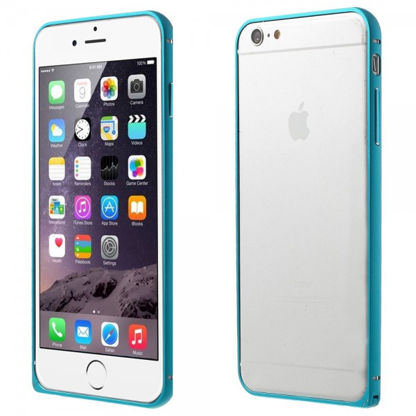 Love Mei iPhone 6 Plus/6S Plus LOVE MEI Metall Bumper Curved - blau