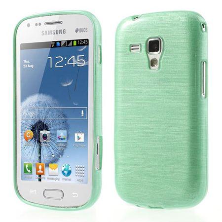 Samsung Galaxy S Duos Elastisches, gebürstetes Plastik Case - grün