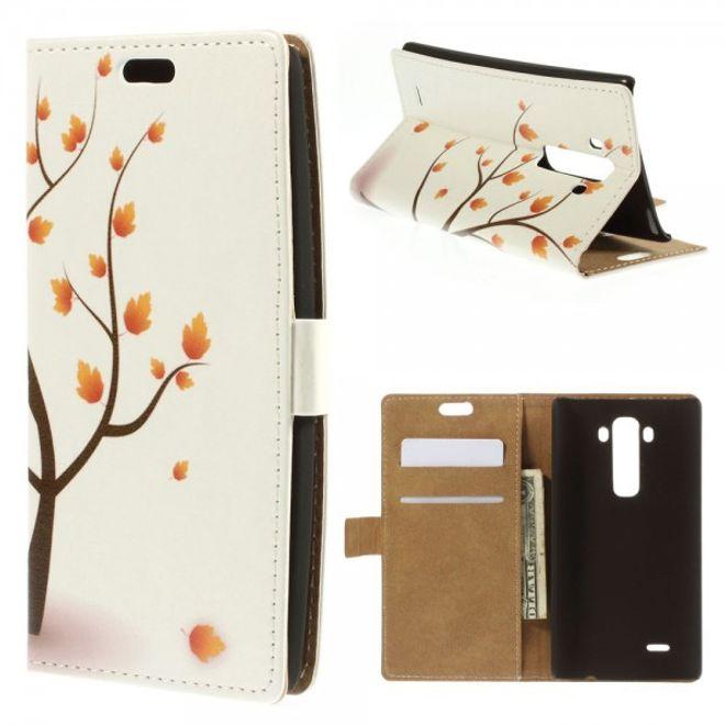LG G Flex 2 Leder Case mit herbstlichem Baum