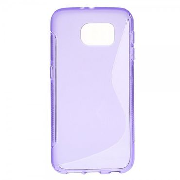 Samsung Galaxy S6 Elastisches Plastik Case S-Shape - purpur