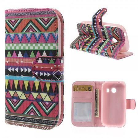Samsung Galaxy Ace Style Leder Case mit farbigem Stammesmuster