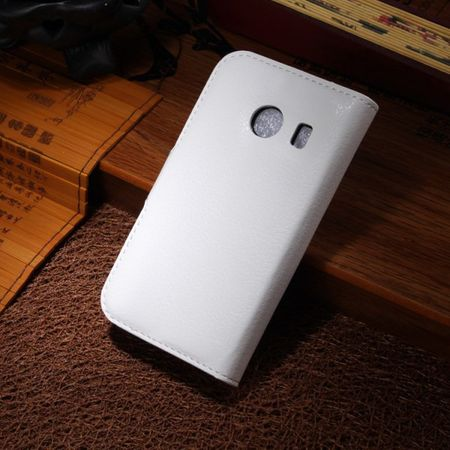 Samsung Galaxy Ace Style Leder Case mit Litchimuster - weiss