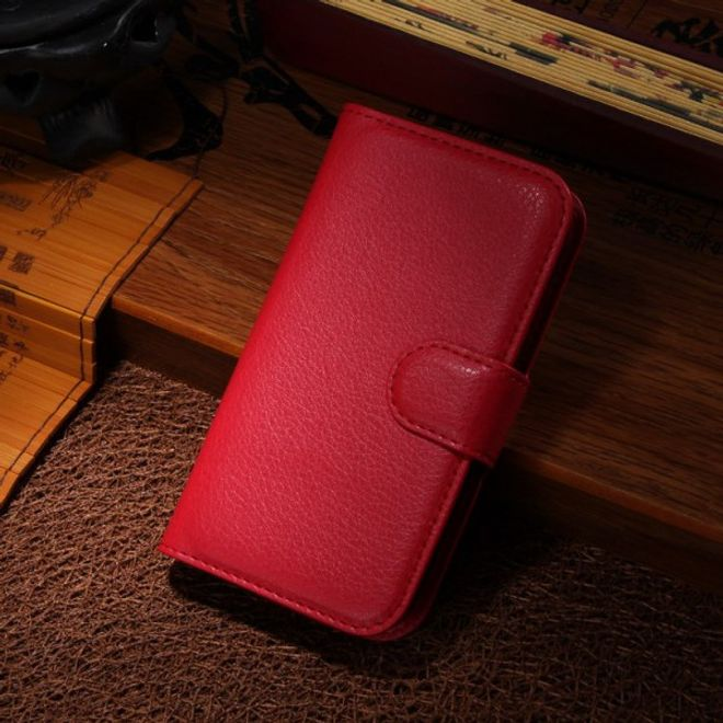 Samsung Galaxy Ace Style Leder Case mit Litchimuster - rot