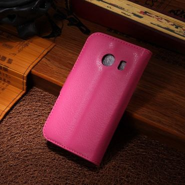 Samsung Galaxy Ace Style Leder Case mit Litchimuster - rosa