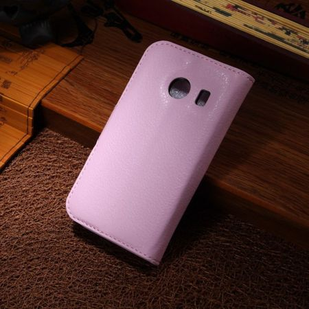 Samsung Galaxy Ace Style Leder Case mit Litchimuster - pink