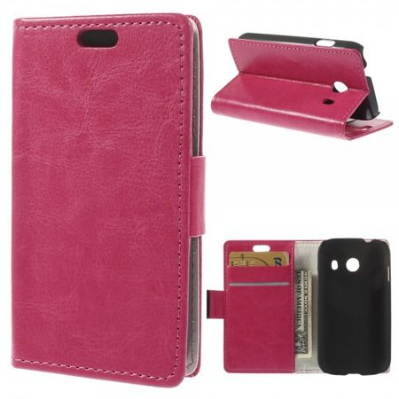 Samsung Galaxy Ace Style Crazy Horse Leder Case mit Standfunktion - rosa