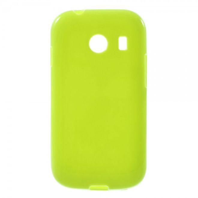 Samsung Galaxy Ace Style Elastisches, glänzendes Plastik Case - grün