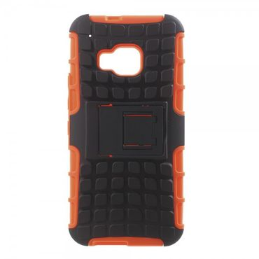 HTC One (M9) Rutschfestes, robustes Plastik Case - orange
