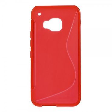 HTC One (M9) Elastisches Plastik Case S-Shape - rot