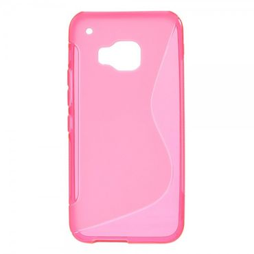 HTC One (M9) Elastisches Plastik Case S-Shape - rosa
