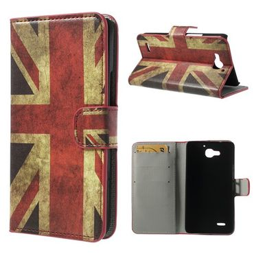 Huawei Honor 3X Leder Case mit UK Flagge retro-style