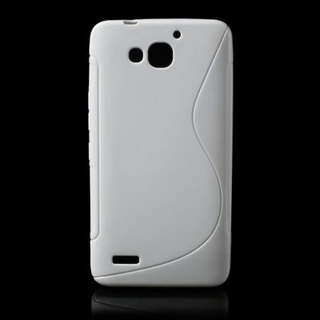 Huawei Honor 3X Softes, elastisches Plastik Case S-Curve - weiss