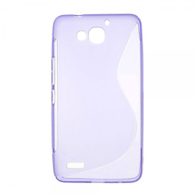 Huawei Honor 3X Softes, elastisches Plastik Case S-Curve - purpur