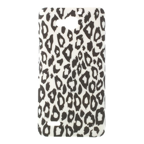Huawei Honor 3X Hart Plastik Case mit Leopardenmuster