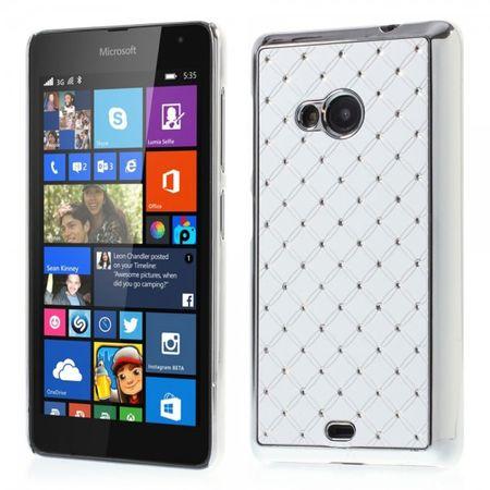 Microsoft Lumia 535/535 Dual Hart Plastik Case mit Sternenhimmel  - weiss