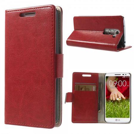 LG G2 Mini Magnetisches Crazy Horse Leder Case - rot