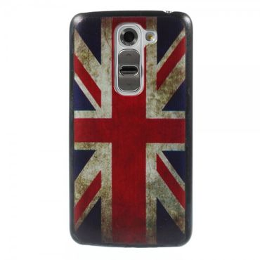 LG G2 Mini Hart Plastik Case mit UK Flagge retro-style