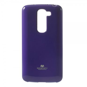 LG G2 Mini Mercury Glitzerndes, elastisches Plastik Case - purpur