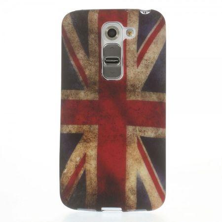 LG G2 Mini Elastisches Plastik Case mit UK Flagge retro-style
