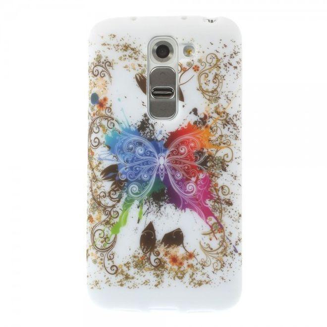 LG G2 Mini Elastisches Plastik Case mit farbenfrohem Schmetterling
