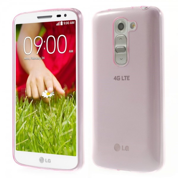 LG G2 Mini Ultradünnes (0.6mm), elastisches Plastik Case - rosa